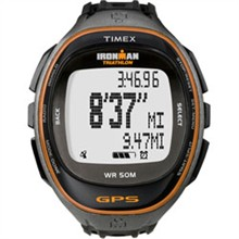 Timex Womens Ironman timex run trainer gps watch only black orange