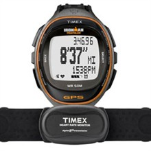 Timex Womens Ironman timex run trainer gps watch hrm black orange